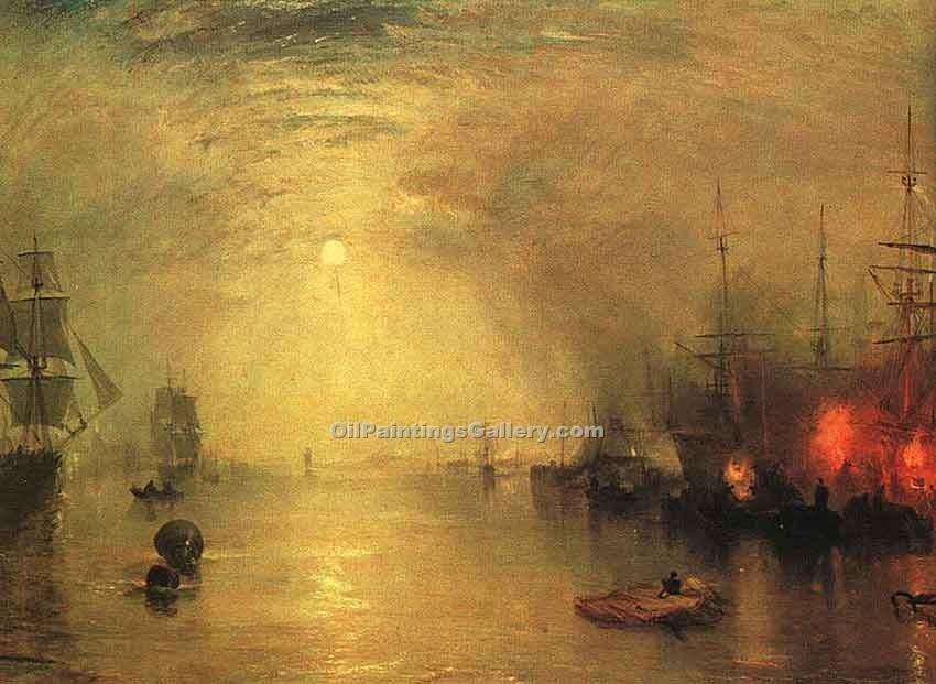 """Keelmen Heaving in Coals by Night"" by  William Turner"