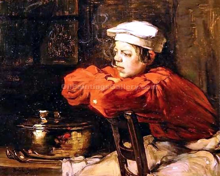 """Kitchen Boy on a Cigarette Break"" by  Claude Joseph Bail"