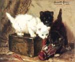 Kittens at Play by  Henriette Ronner Knip (Painting ID: AN-1099-KA)