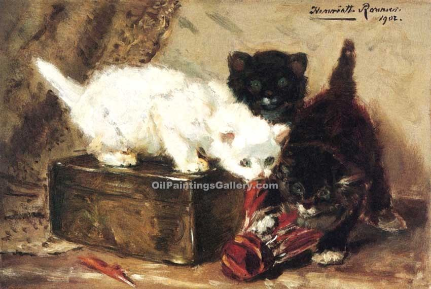 """Kittens at Play"" by  Henriette Ronner Knip"