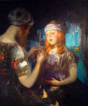 Knitting by  James Jebusa Shannon (Painting ID: ED-0644-KA)