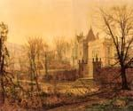 Knostrop Hall, Early Morning by  John Atkinson Grimshaw (Painting ID: LA-0242-KA)