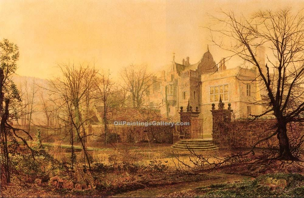 """Knostrop Hall, Early Morning"" by  John Atkinson Grimshaw"
