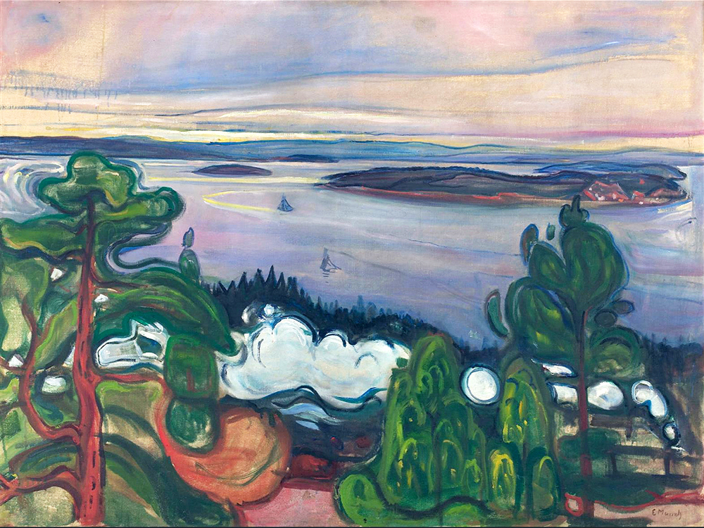 Train Smoke 1900 by Edvard Munch | Contemporary Art Paintings - Oil Paintings Gallery
