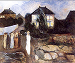 The Storm 1893 by  Edvard Munch (Painting ID: LA-0042-KA)