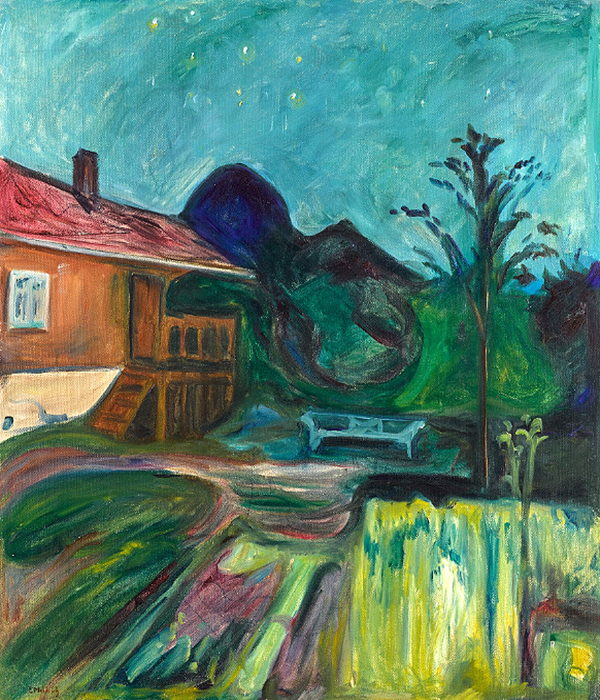 Summer Night 1902 by Edvard Munch | Famous Artists Paintings - Oil Paintings Gallery