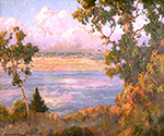 Landscape North Island seen from Point Loma by  Maurice Braun (Painting ID: LA-0088-KA)