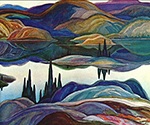 Mirror Lake by  Franklin Carmichael (Painting ID: LA-0134-KA)