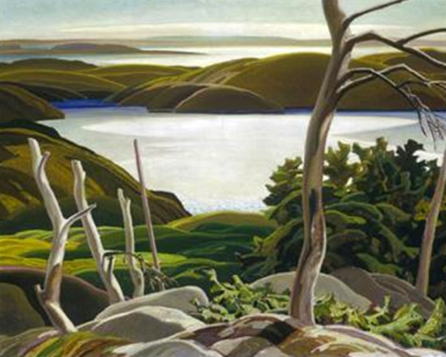 Frood Lake by Franklin Carmichael | Modern Art Artists - Oil Paintings Gallery