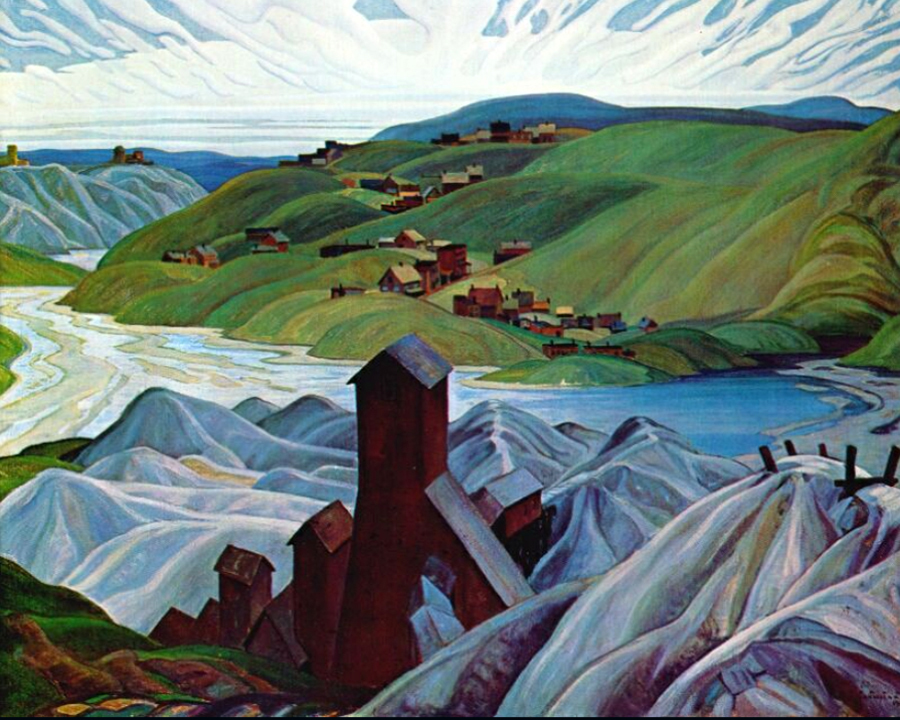 A Northern Silver Mine by Franklin Carmichael | Modern Art Online Gallery - Oil Paintings Gallery