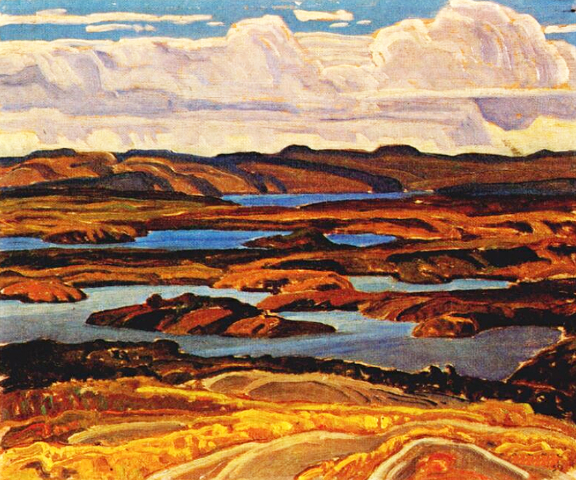 La Cloche Panorama by Franklin Carmichael | Oil Art Gallery - Oil Paintings Gallery