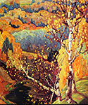 October Gold by  Franklin Carmichael (Painting ID: LA-0144-KA)