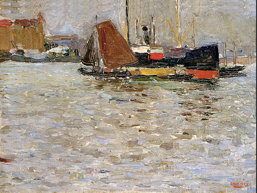 1906 Rotterdam Sun by Wassily Kandinsky | Oil Paintings For Sale - Oil Paintings Gallery