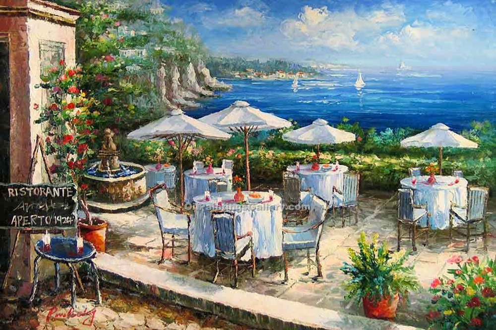 Buy Oil Painting Landscapes Online | Realism & Naturalism styles - Terrace on Bellagio Bay 16