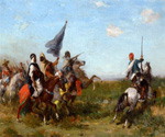 La Charge by  Georges Washington (Painting ID: ED-0406-KA)