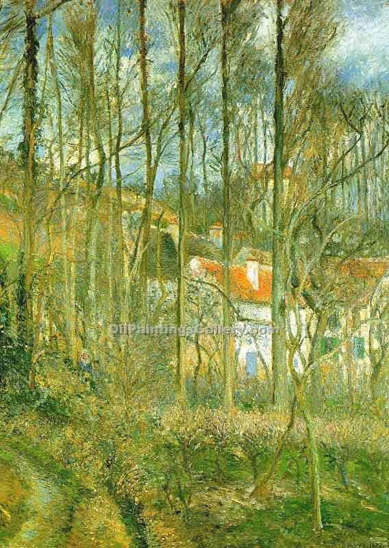 La Cote des Boeufs the Hermitage by Camille Pissarro | Paintings Online - Oil Paintings Gallery