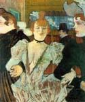 La Goulue Arrivant au Moulin Rouge by  Henri Toulouse Lautrec (Painting ID: ED-1100-KA)