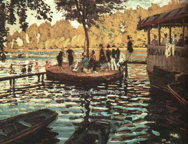 """La Grenouillere"" by  Claude Monet"