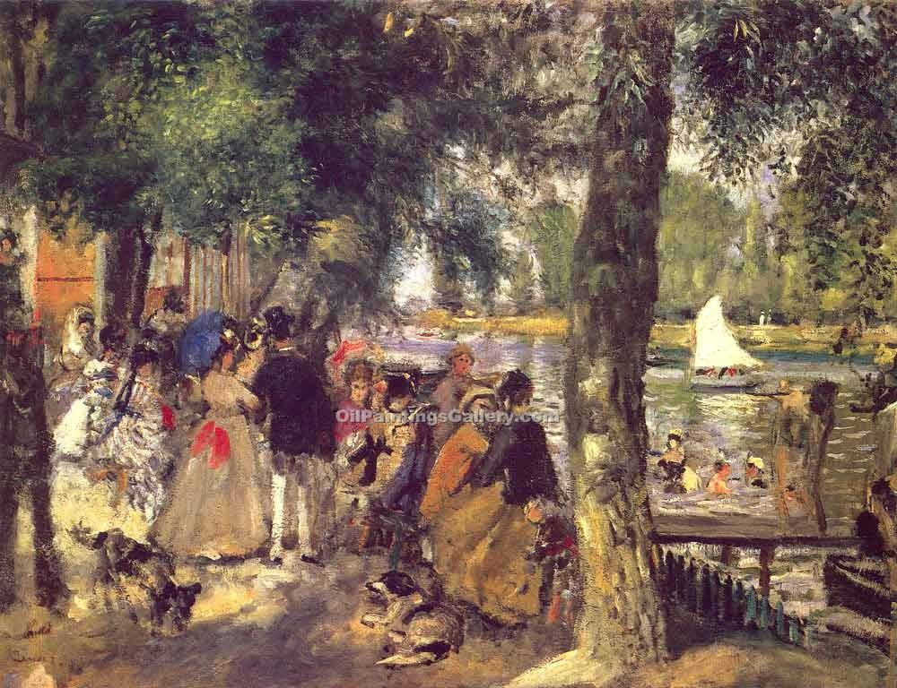 La Grenouilliere by Pierre Auguste Renoir | Online Gallery - Oil Paintings Gallery