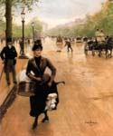 La Modiste Sur Les Champs Elysees Paris by  Jean Beraud (Painting ID: CI-0915-KA)
