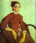 La Mousme Seated in a Cane Chair by  Vincent Van Gogh (Painting ID: VG-0240-KA)