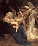 La Vierge Aux Anges  by  Adolphe Bouguereau (Painting ID: DA-7149-KA)