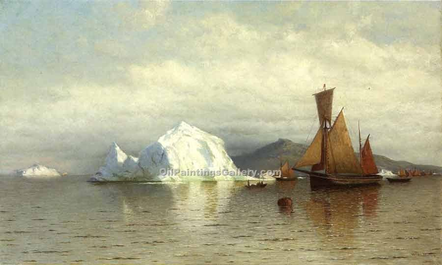 """Labrador Fishing Boats near Cape Charles"" by  William Bradford"