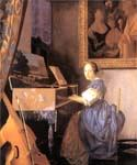 Lady Seated at a Virginal by  Jan Vermeer (Painting ID: CM-0959-KA)