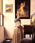 Lady Standing at a Virginal by  Jan Vermeer (Painting ID: CM-0957-KA)