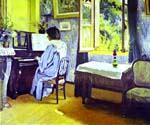 Lady at the Piano by  Felix Vallotton (Painting ID: EI-0310-KA)