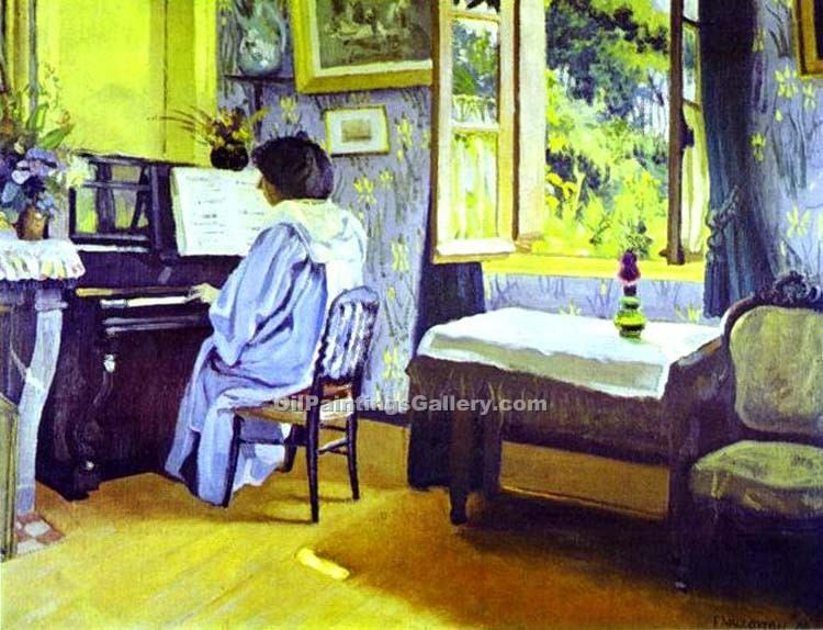"""Lady at the Piano"" by  Felix Vallotton"