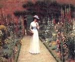 Lady in a Garden 88 by  Blair Leighton Edmund (Painting ID: CL-2888-KA)