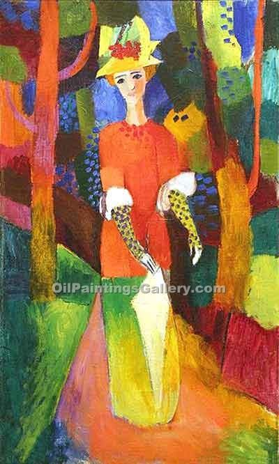 """Lady in the Park"" by  August Macke"