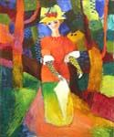 Lady in the Park by  August Macke (Painting ID: EI-0342-KA)