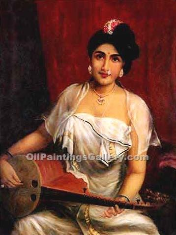 """Lady with Swarbat 05"" by  Raja Ravi Varma"
