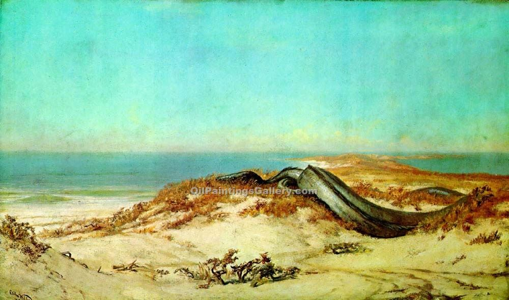 """Lair of the Sea Serpent"" by  Elihu Vedder"