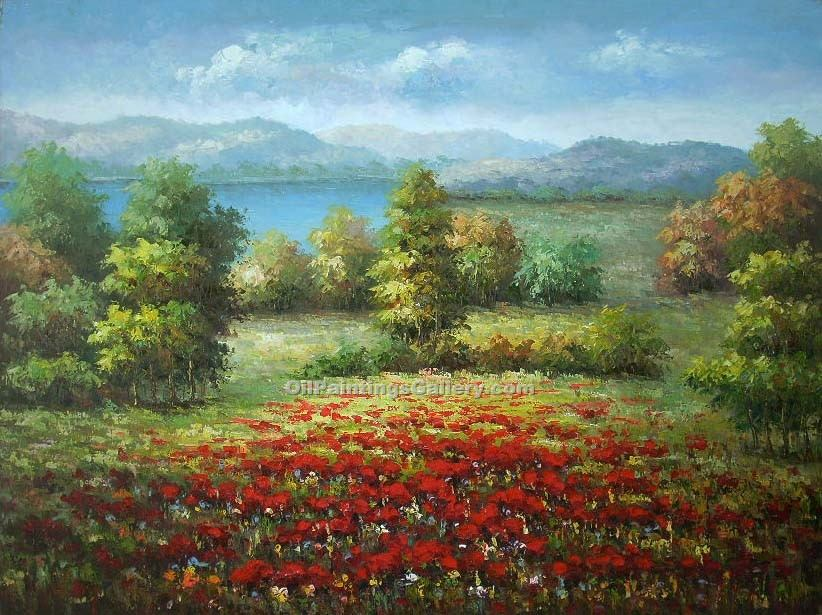 """Lake View with Poppies"""