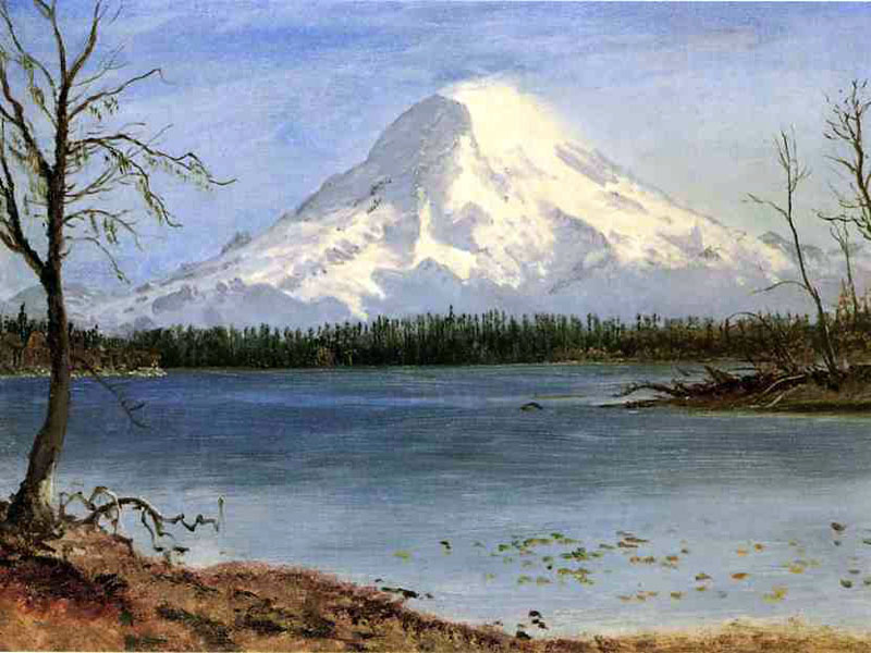 """Lake in the Rockies"" by  Albert Bierstadt"