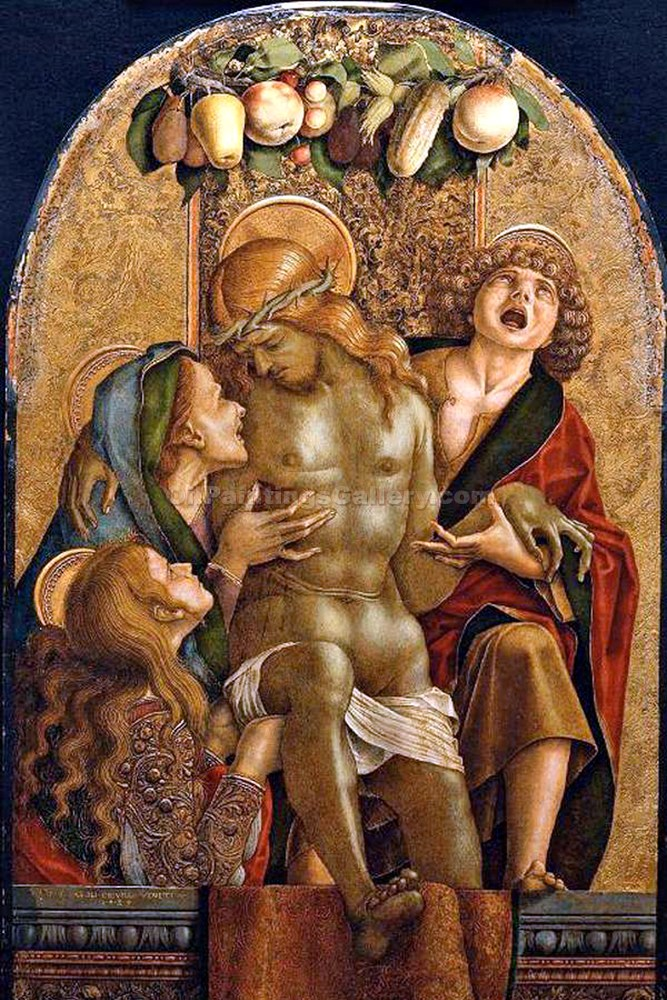 """Lamentation Over the Dead Christ"" by  Carlo Crivelli"