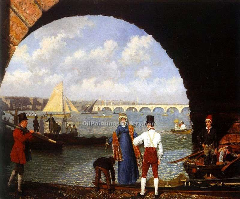 """Landing at Westminster Bridge"" by  Jacques Laurent Agasse"