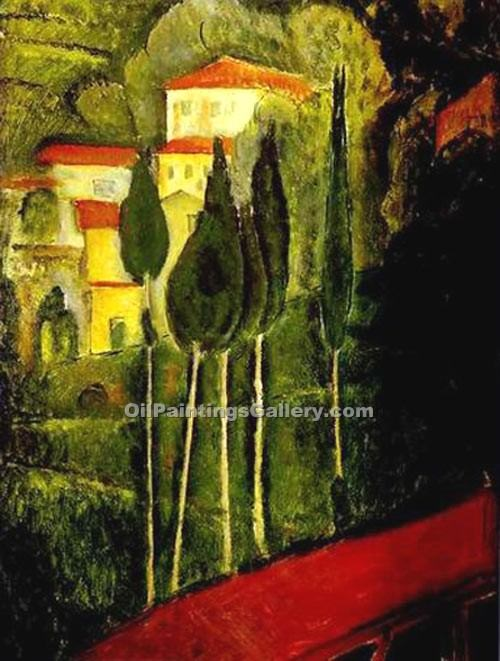 """Landscape 01"" by  Amedeo Modigliani"