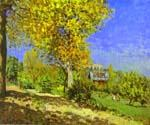 Landscape at Louveciennes by  Alfred Sisley (Painting ID: LA-0309-KA)