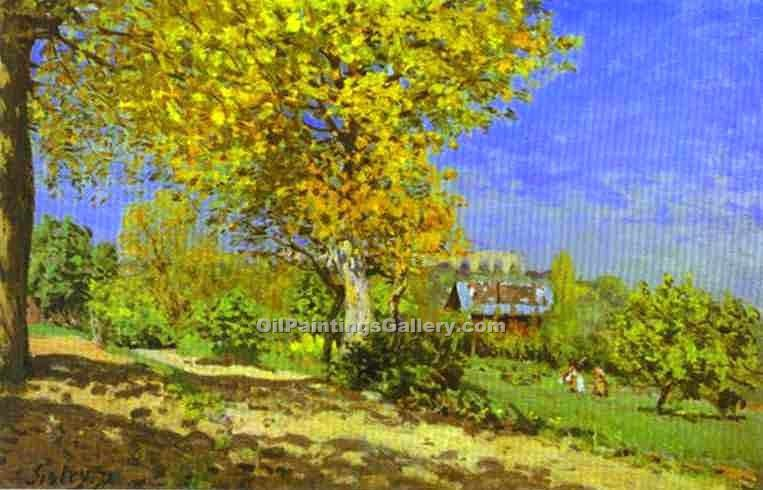 """Landscape at Louveciennes"" by  Alfred Sisley"
