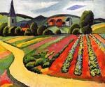 Landscape at the Tegersee by  August Macke (Painting ID: AB-0308-KA)