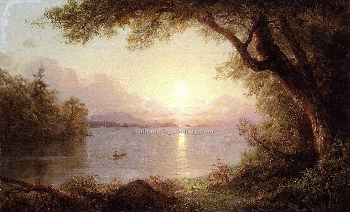 """Landscape in the Adirondacks"" by  Frederic Edwin Church"