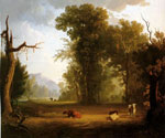 Landscape with Cattle 57 by  George Caleb Bingham (Painting ID: LA-2357-KA)