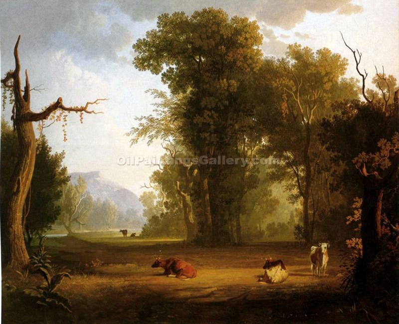 """Landscape with Cattle 57"" by  George Caleb Bingham"