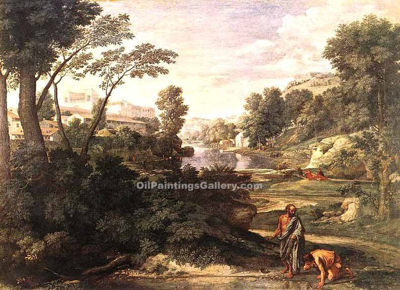 """Landscape with Diogenes"" by  Nicolas Poussin"