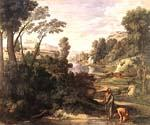 Landscape with Diogenes by  Nicolas Poussin (Painting ID: CM-1425-KA)