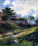 Landscape with House and Fence by  Mathias J. Alten (Painting ID: LA-0124-KA)